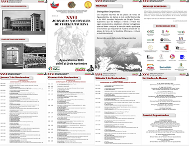 XXVI JORNADAS NACIONALES DE CIRUGÍA TAURINA