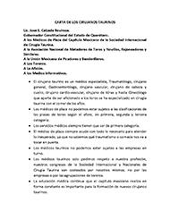 CARTA DE LOS CIRUJANOS TAURINOS